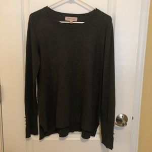 Philosophy Charcoal Gray Sweater - Size: Small